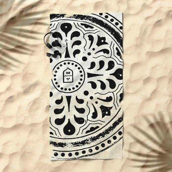 Manhole Cover 5 Beach Towel