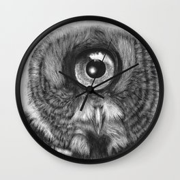 Evolution: Great Gray Owl Wall Clock
