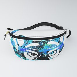 Blue Cat Diving furniture Design by diegoramonart Fanny Pack