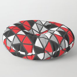 Triangular Vitrail Mosaic Pattern V.10 Floor Pillow