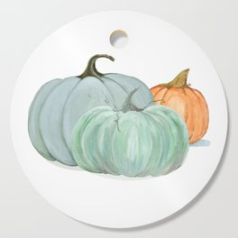 Colorful pumpkin trio Cutting Board