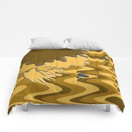 Shades of Brown Waves Comforters