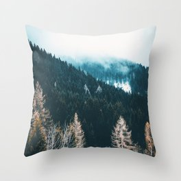 Fir Forest Winter Throw Pillow