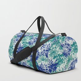 marguerites and chrysanthemums in blues Duffle Bag