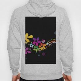 Cut Paper Flowers and Ferns on Black  15K Hoody