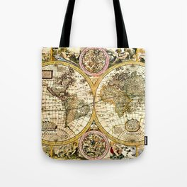 Gorgeous Old World Map Art from 15th Century Tote Bag