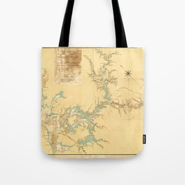 Map of the Proposed Panama Canal (1906) Tote Bag