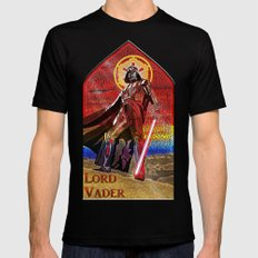 STAR WARS Stained Glass Lord Vader Mens Fitted Tee MEDIUM Black