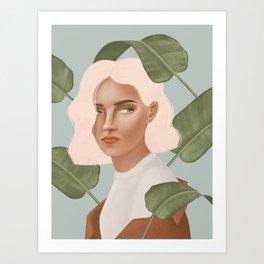 Planty girl Art Print