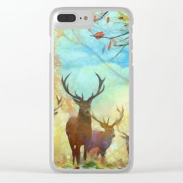 Autumn Forest Watch Clear iPhone Case