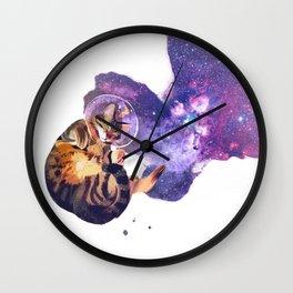 Catstronaut Wall Clock