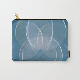 Blue Yoga Lotus Carry-All Pouch