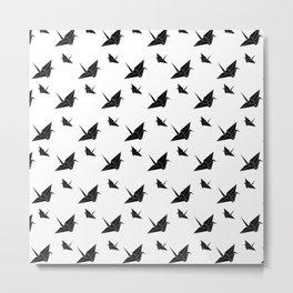 Origami Tsuru Light Metal Print