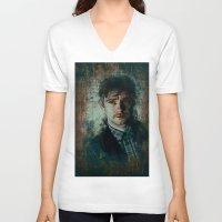 emma watson V-neck T-shirts featuring Watson by Sirenphotos
