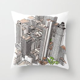 New York View Throw Pillow