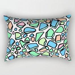Sea Glass - Blues Aqua Green on White Rectangular Pillow
