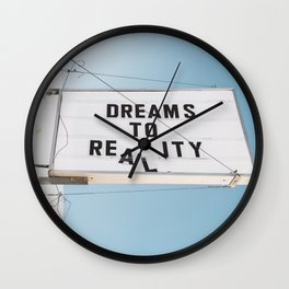 Dreams to Reality Wall Clock