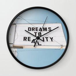 Dreams to Reality Wall Clock
