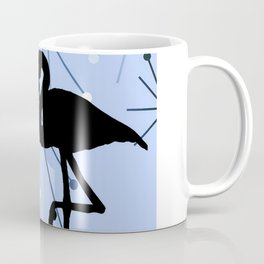MidCentury Modern Atomic Starburts Flamingo Blue Coffee Mug