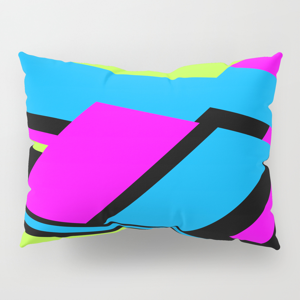 Active Colorblock Pillow Sham by Underwatercity PSH8753878