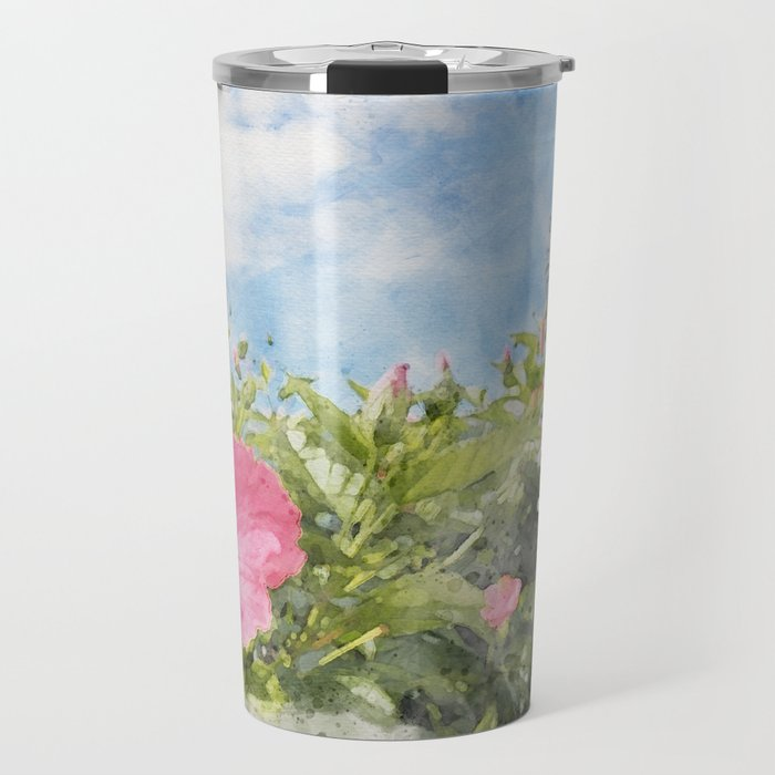 tropical vacation hibiscus Travel Mug