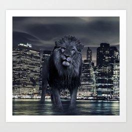 King of the City Art Print