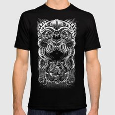 The Cultist LARGE Black Mens Fitted Tee