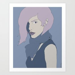 Blue Steel Art Print