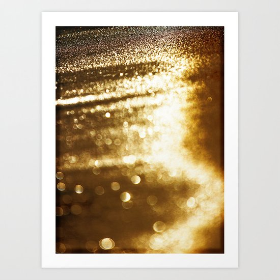 spun gold Art Print