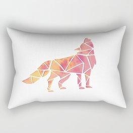 Geometric watercolor wolf Rectangular Pillow