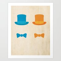 dumb and dumber Art Prints featuring DUMB AND DUMBER - Minimalist Movie Poster by Oskoui & Oskoui