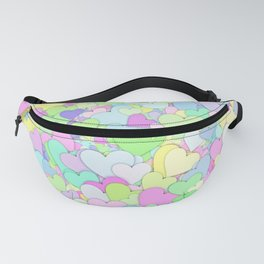 Cute Pastel Hearts 4 Fanny Pack