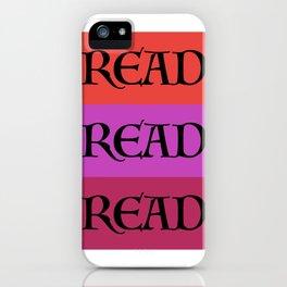 READ READ READ {PURPLE} iPhone Case