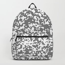 Small Spots - White and Gray Backpack
