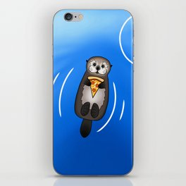 Sea Otter with Pizza iPhone Skin