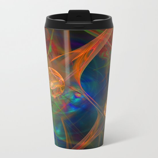Neuron Network Metal Travel Mug
