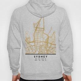 SYDNEY AUSTRALIA CITY STREET MAP ART Hoody