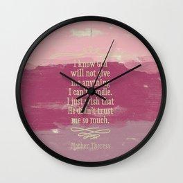 Go girl! Wall Clock