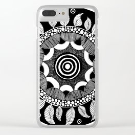 Datura Seed Pod Clear iPhone Case
