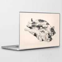 cats Laptop & iPad Skins featuring Cats by Anna Shell