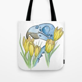 The Parakeet and The Crocus Tote Bag