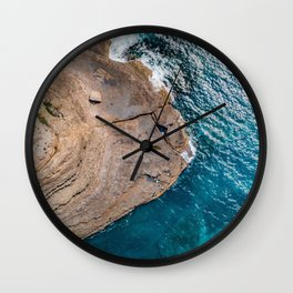 Clear Coastal Waters of the South Coast Wall Clock