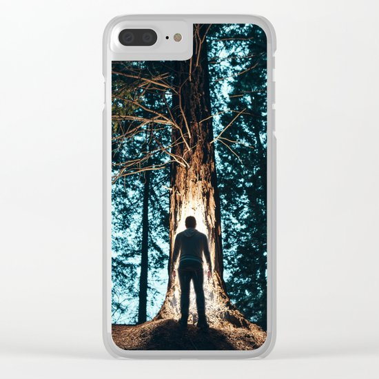 Shadow in the forest Clear iPhone Case