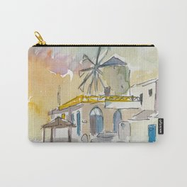 Santorini Therassia Lonely Island in Greece Carry-All Pouch