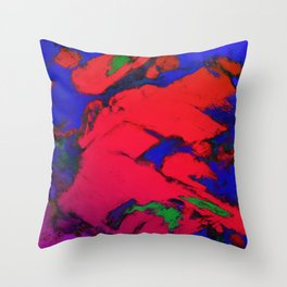 Red erosion Throw Pillow
