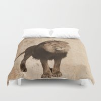 lion Duvet Covers featuring Lion by haroulita