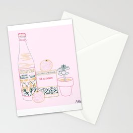blossoms and tea and madarins Stationery Cards