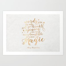 Dumbledore's Magic Words Art Print
