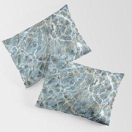 Blue Water Waves Pillow Sham
