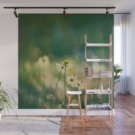 He Loves Me, Daisies Wildflowers Wall Mural